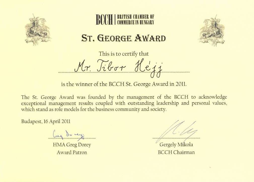 St. George Award